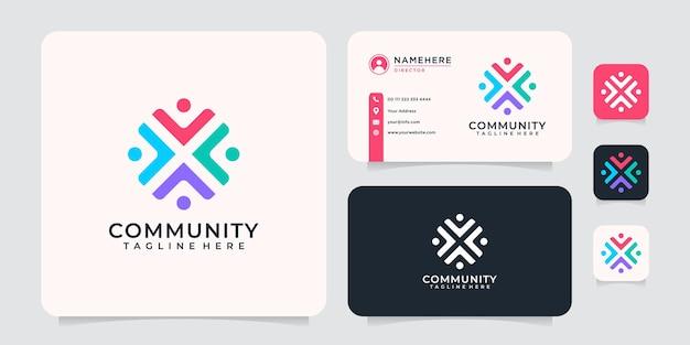 Concept de logo d'équipe de communauté de collaboration pour le groupe de travail d'équipe