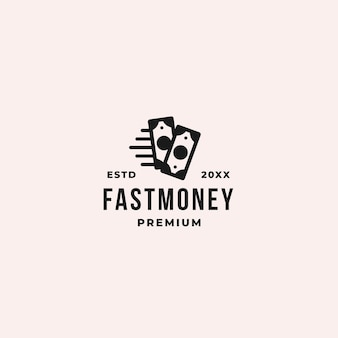 Concept de logo fast money ou fast pay pour toute transaction