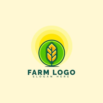 Concept de logo de ferme génial