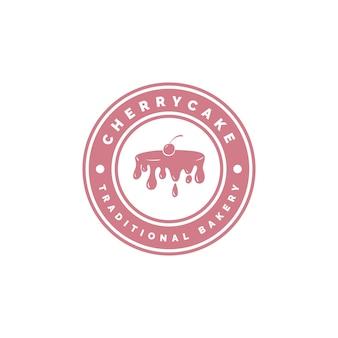 Concept de logo de gâteau de boulangerie