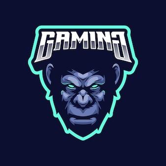 Concept de logo de gorille