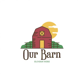 Concept de logo de grange