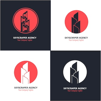 Concept de logo de gratte-ciel