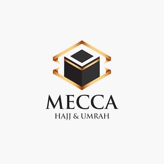Concept de logo hajj et omra