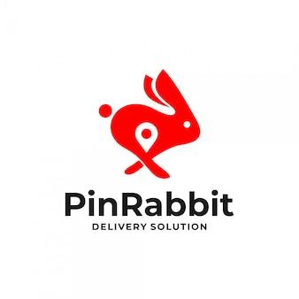 Concept de logo lapin broche