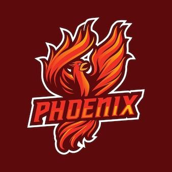 Concept de logo mascotte phoenix
