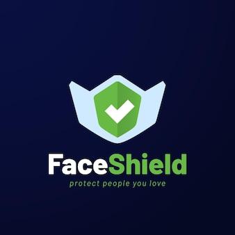 Concept de logo de masque facial