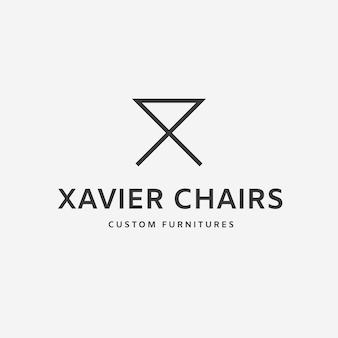Concept de logo de meubles minimalistes