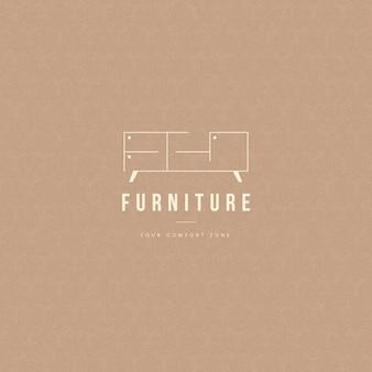 Concept de logo de meubles