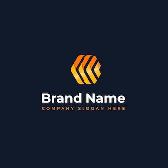 Concept de logo moderne adapté à l'apprentissage de l'innovation dans les bijoux de construction et aux entreprises de technologie de l'information