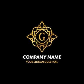 Concept de logo monogramme lettre g