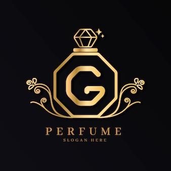 Concept de logo de parfum de luxe