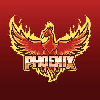 Concept de logo de phoenix