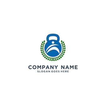 Concept de logo de remise en forme, fitness design
