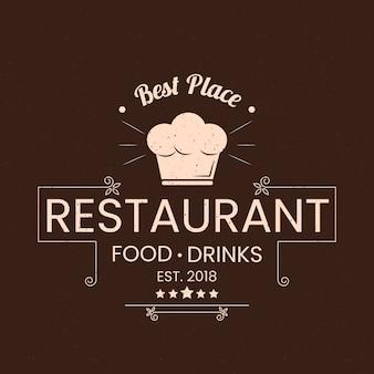Concept de logo de restaurant rétro