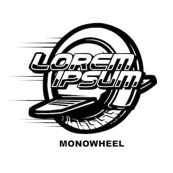 Concept de logo de roue mono électrique