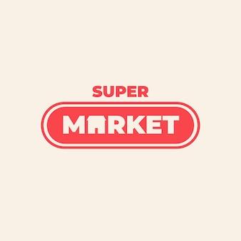 Concept de logo de supermarché d'entreprise