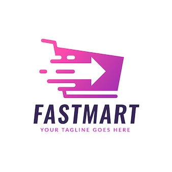 Concept de logo de supermarché