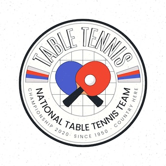 Concept de logo de tennis de table détaillé