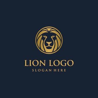 Concept de logo tête de lion