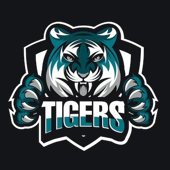 Concept de logo de tête de tigre