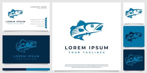 Concept de logo vectoriel poisson classique