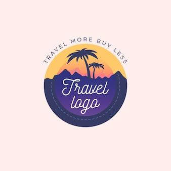 Concept de logo de voyage détaillé