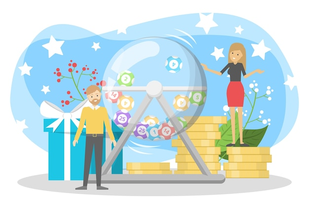 Concept de loterie. pari et bingo. jouer au jeu