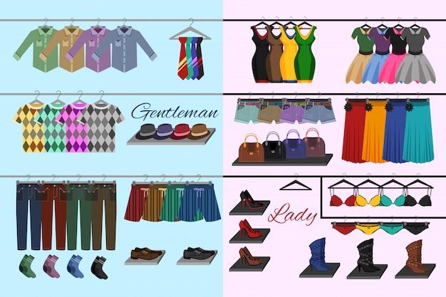 Concept de magasin de vêtements