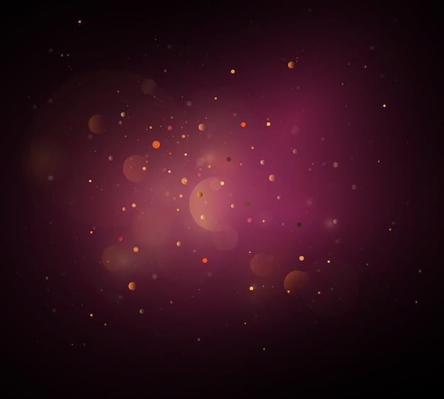 Concept magique. fond de lumières bokeh circulaire défocalisé abstrait.