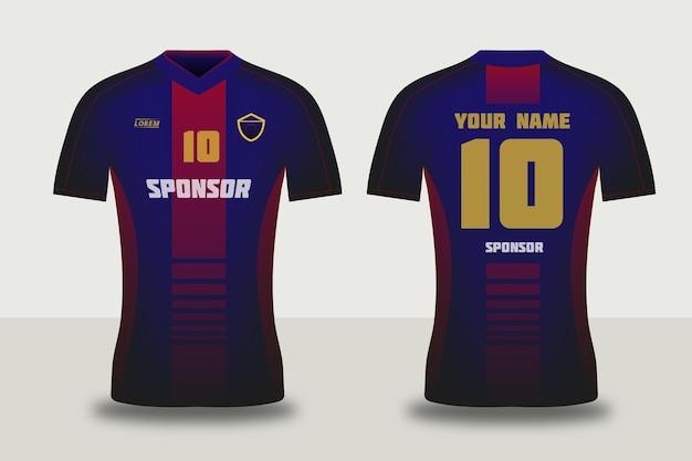 Concept de maillot de football