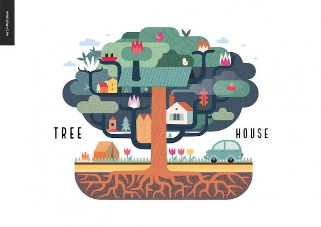 Concept de maison dans l'arbre