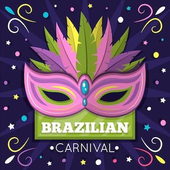 Concept de maks pour le thème du carnaval brésilien avec