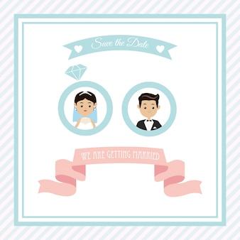 Concept marié avec un design d'icône