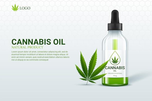 Concept de marijuana et huile de cannabis