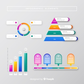 Concept de marketing de collection infographique