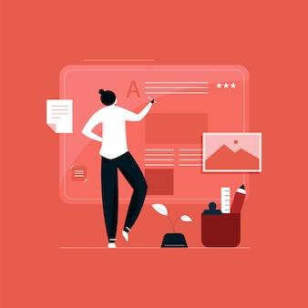 Concept de marketing de contenu et de blogs