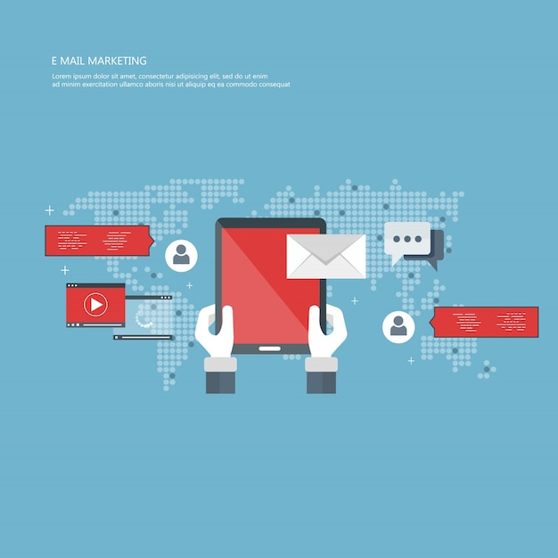 Concept de marketing e-mail