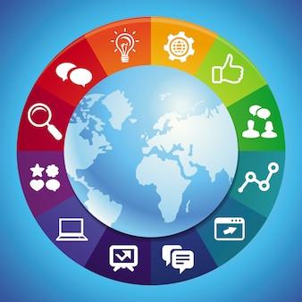 Concept de marketing internet vectoriel