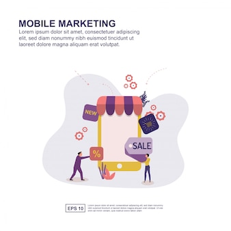 Concept de marketing mobile