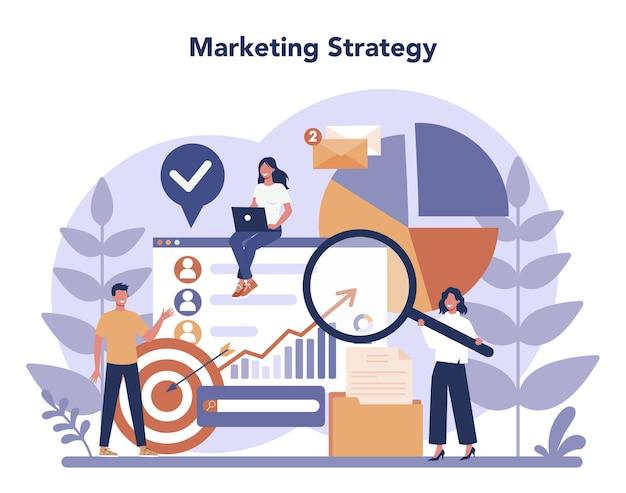 Concept de marketing numérique au design plat