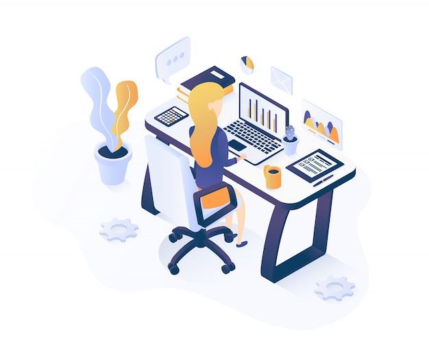 Concept de marketing numérique. responsable marketing en ligne au travail.
