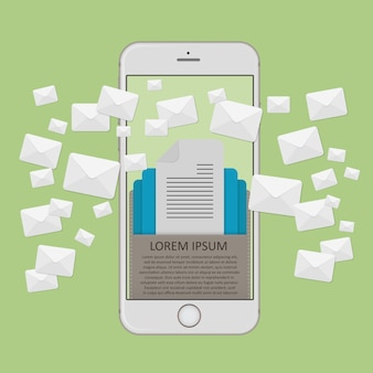 Concept de marketing par courriel