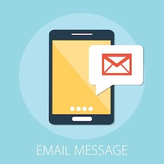Concept de marketing par e-mail mobile