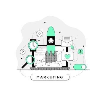 Concept de marketing de processus d'affaires