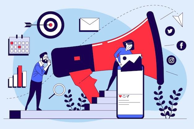 Concept de marketing avec smartphone