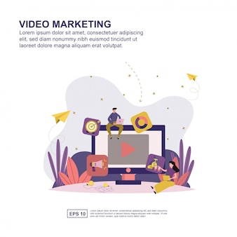 Concept de marketing vidéo