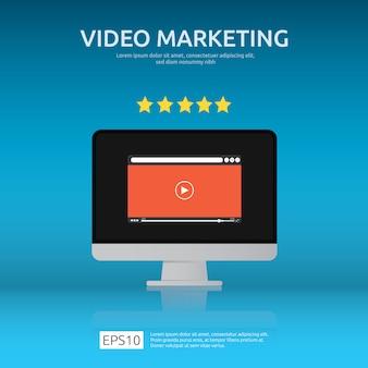 Concept de marketing vidéo