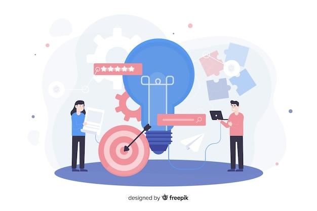 Concept de marque pour la page de destination