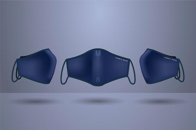 Concept de masque facial en tissu réaliste